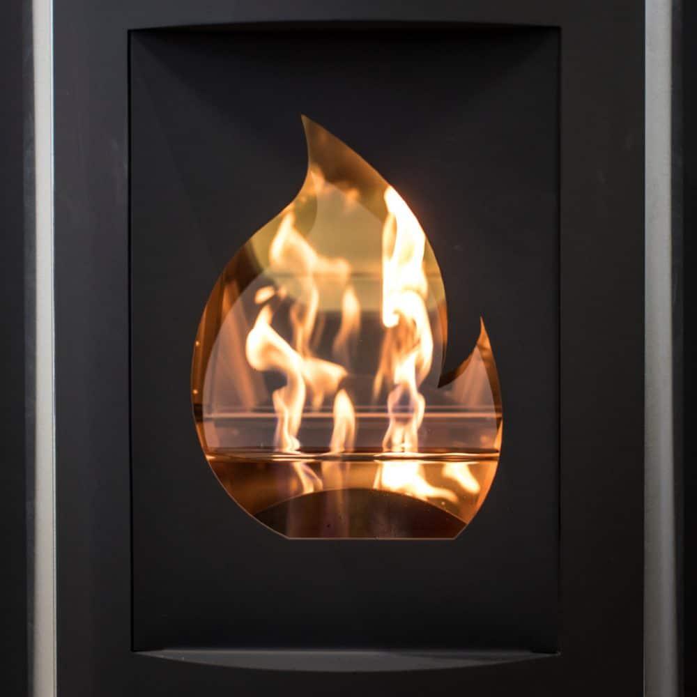 Design poêle Flam'In avec motif flamme