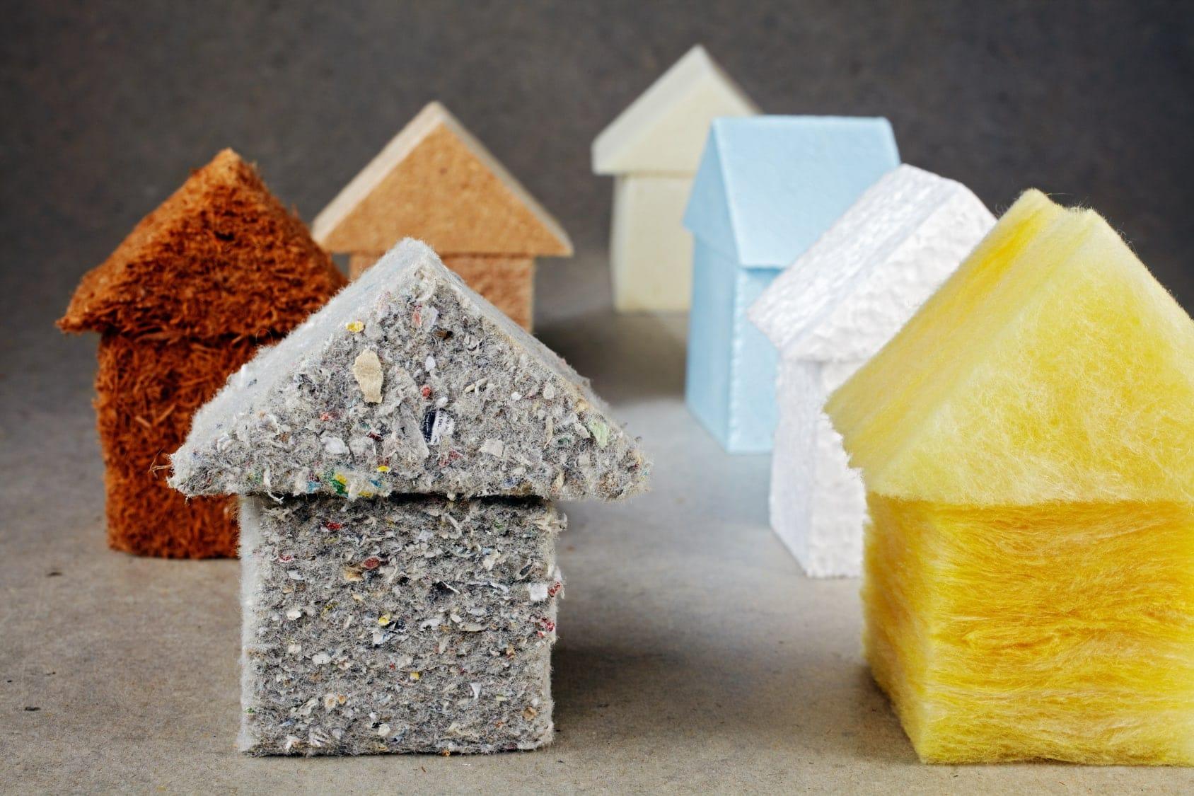 les différents types de matériaux isolants, laine de roche, polystyrène, laine de verre